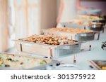catering wedding  | Shutterstock . vector #301375922