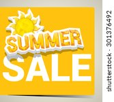 vector summer sale label or... | Shutterstock .eps vector #301376492