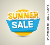 vector summer sale label or... | Shutterstock .eps vector #301376546