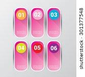 pink modern progress paper... | Shutterstock .eps vector #301377548