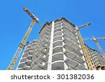 crane and building construction ... | Shutterstock . vector #301382036
