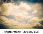 vintage cloud on sky background ... | Shutterstock . vector #301382168