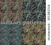 military seamless patterns.... | Shutterstock .eps vector #301382516