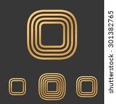 bronze line rectangle logo...