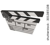 cinema clapperboard. 3d render... | Shutterstock . vector #301385108