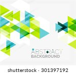 abstract geometric background.... | Shutterstock . vector #301397192
