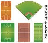 five popular sport field... | Shutterstock .eps vector #30139780