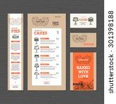 bakery corporate identity.... | Shutterstock .eps vector #301398188