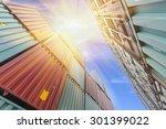 container transport terminals | Shutterstock . vector #301399022