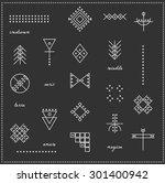 set of geometric shapes. trendy ... | Shutterstock .eps vector #301400942