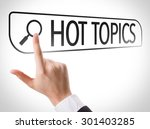 Small photo of Hot Topics written in search bar on virtual screen