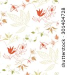 seamless vector floral pattern. ... | Shutterstock .eps vector #301404728