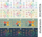 big set of web templates for... | Shutterstock .eps vector #301405526