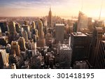 new york city skyline with... | Shutterstock . vector #301418195