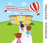 welcome back to school balloon. ... | Shutterstock .eps vector #301419062