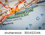 map photography  brighton city... | Shutterstock . vector #301422146