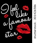 lips graphic print with text in ...