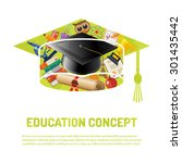 online education and e learning ... | Shutterstock .eps vector #301435442