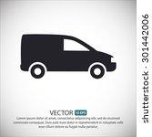motor van. vector icon eps 10.   Shutterstock .eps vector #301442006