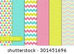 Chevron Pattern Design Set | Shutterstock vector #301451696