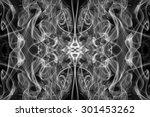 Art Of White Smoke On Black...