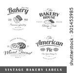 set of vintage bakery labels.... | Shutterstock . vector #301453985