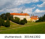 valtice chateau view from park  ... | Shutterstock . vector #301461302