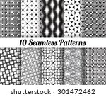 set of 10 abstract patterns.... | Shutterstock .eps vector #301472462