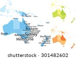 australia and oceania map with... | Shutterstock .eps vector #301482602
