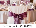 wedding chairs with ribbon | Shutterstock . vector #301484726
