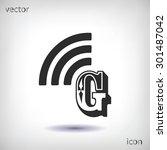 letter g  icon  | Shutterstock .eps vector #301487042