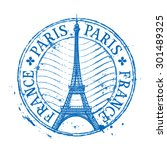 paris vector logo design... | Shutterstock .eps vector #301489325