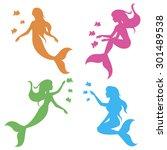 vector drawing stencil shape... | Shutterstock .eps vector #301489538