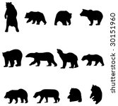 bears and chinese pandas   Shutterstock .eps vector #30151960