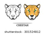Vector Illustration Of Cheetah...
