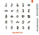happy mothers day simple flat... | Shutterstock . vector #301528502