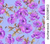 poppies seamless pattern.   Shutterstock . vector #301538912
