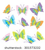 butterfly vector illustration | Shutterstock .eps vector #301573232