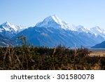 mount cook in clear sky | Shutterstock . vector #301580078