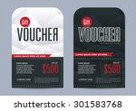 vector illustration gift... | Shutterstock .eps vector #301583768