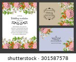 wedding invitation cards with... | Shutterstock .eps vector #301587578