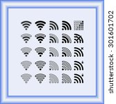 wireless sign icon  vector... | Shutterstock .eps vector #301601702