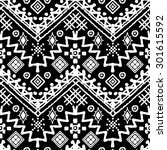 tribal art boho seamless... | Shutterstock .eps vector #301615592