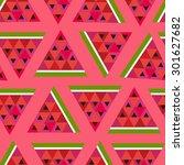 pink seamless vector geometric... | Shutterstock .eps vector #301627682
