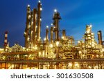 oil refinery plant of petroleum ... | Shutterstock . vector #301630508