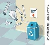 illustration of used light... | Shutterstock .eps vector #301639442