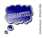 guaranteed white stamp text on... | Shutterstock . vector #301661486