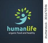 human life logo template | Shutterstock .eps vector #301670546