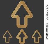 bronze line forward logo design ...