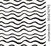 Seamless pattern. Hand drawn waves